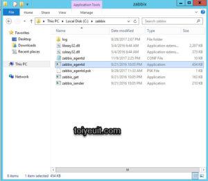 Các file cần thiết của zabbix agent