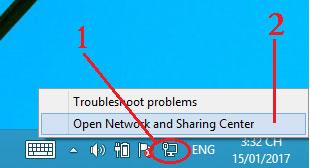 Khi máy tính bạn đang dùng mạng dây hoặc 3G