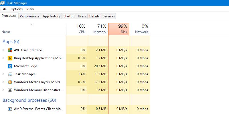 Chạy nhiều chương trình quá nên Ram bị đầy và CPU lên cao gây chậm máy