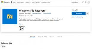 cách khôi phục các file đã xóa trong máy tính - windows file recover chính chủ